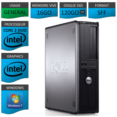PROMO PC DELL 16GO 120SSD WINDOWS 7 PRO 64 bits