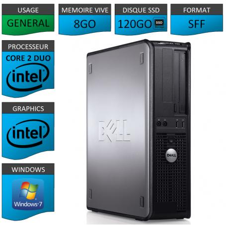 PROMO PC DELL 8GO 120SSD WINDOWS 7 PRO 64 bits
