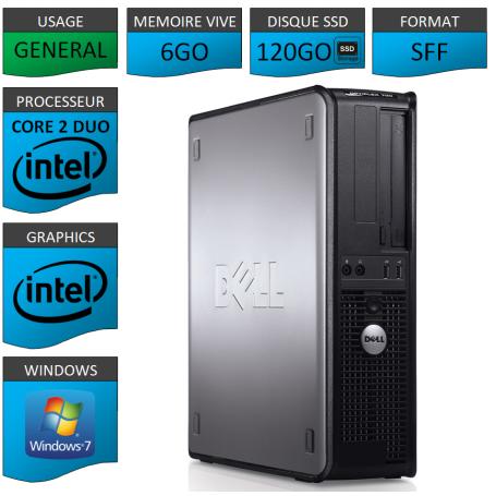 PROMO PC DELL 6GO 120SSD WINDOWS 7 PRO 64 bits