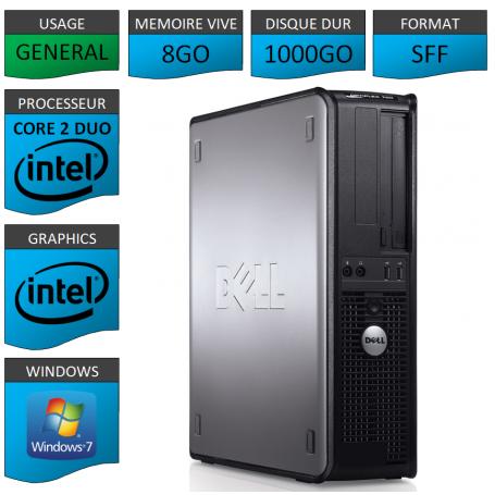 PC DELL OPTIPLEX 8GO 1000GO WINDOWS 7 PRO 64 bits