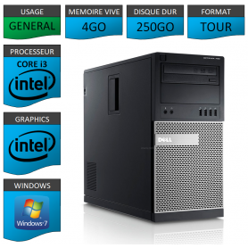 Dell Optiplex 790 Core i3 4go 250Go Windows 7 Pro