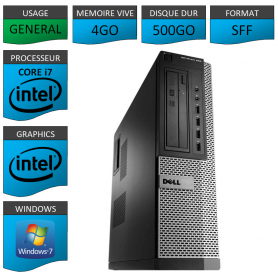 Dell Optiplex 990 Core i7 4go 500Go Windows 7 Pro