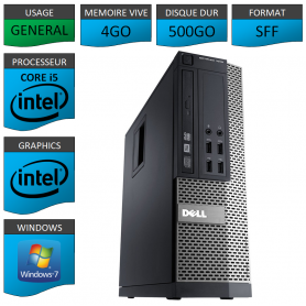 Dell 7010 Core i5 4Go 500Go Windows 7 Pro