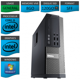 Dell 7010 Core i5 8Go 120SSD Windows 7 Pro