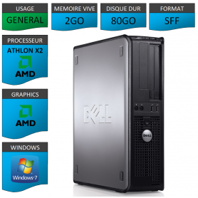 PC DELL OPTIPLEX 740 2Go WINDOWS 7 PRO 64