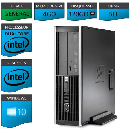 HP Elite 8200 4Go SSD120 W10P
