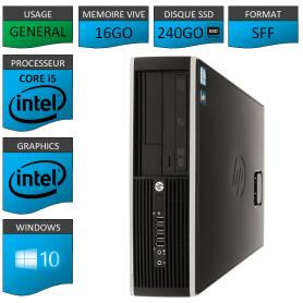PC HP Core i5 16Go 240Go SSD Windows 10 Pro