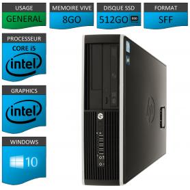 PC HP Core i5 8Go 512Go SSD Windows 10 Pro