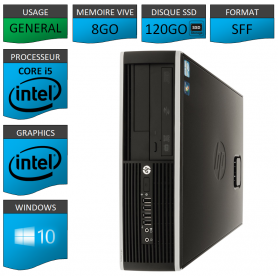 PC HP Core i5 8Go 120Go SSD Windows 10 Pro