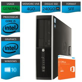 PC HP Core i5 4Go 240Go SSD OFFICE BUSINESS 2010 Windows 10 Pro