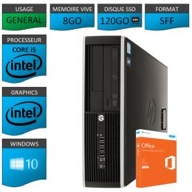 PC HP Core i5 8Go 120Go SSD OFFICE BUSINESS 2010 Wndows 10 Pro