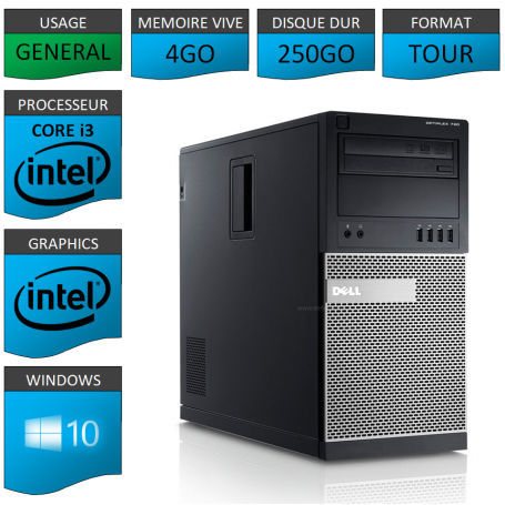 Dell Optiplex Core i3 4go 250Go Windows 10