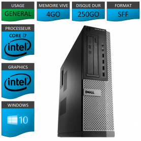 Dell Optiplex 990 Core i7 4go 250Go Windows 10 Pro