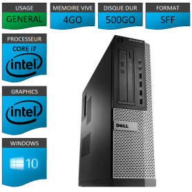 Dell Optiplex 990 Core i7 4go 500Go Windows 10 Pro