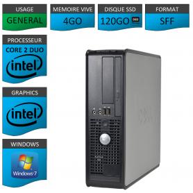 Dell 4Go 120SSD Windows 7 Pro 32 bits
