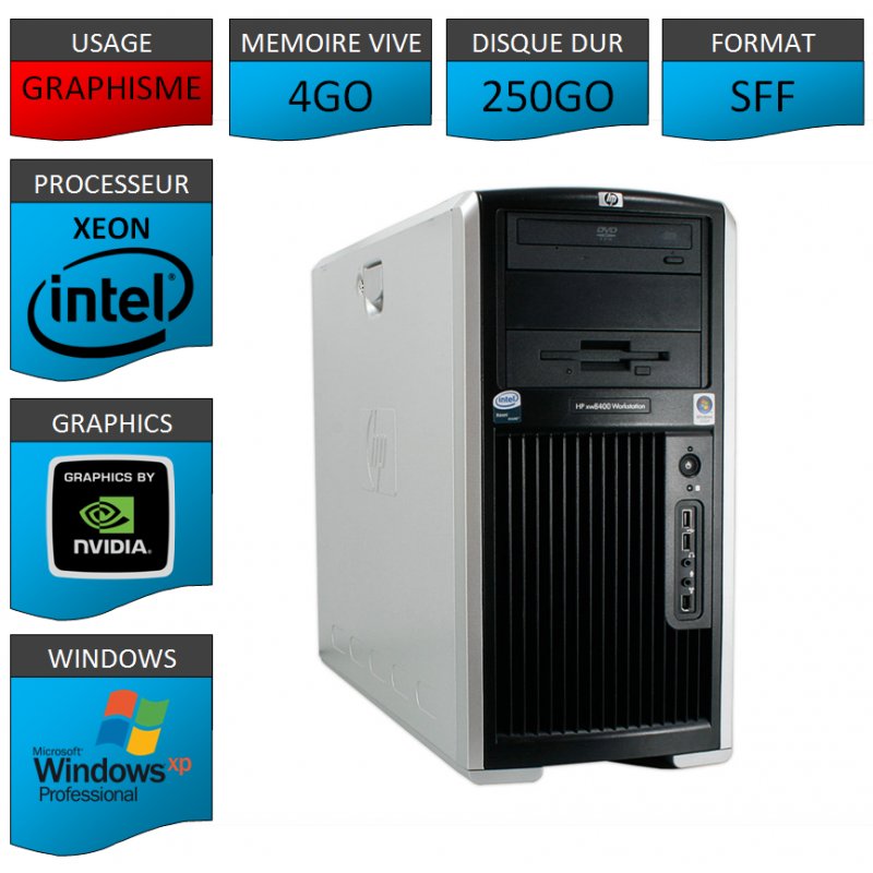 Station de travail HP XP Pro Nvidia GeForce