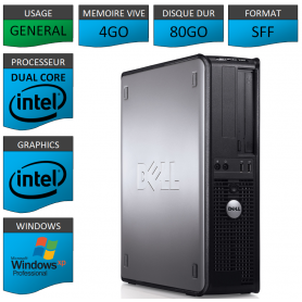 PC DELL 4GO 80GO WINDOWS XP PRO 32Bits