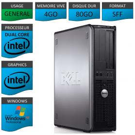 PC DELL 4GO 80GO WINDOWS XP PRO 32Bits