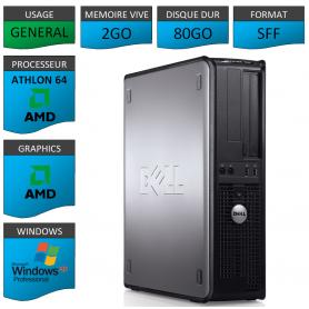 PC DELL OPTIPLEX 740 AMD 2GO 80GO WINDOWS XP PRO 32Bits