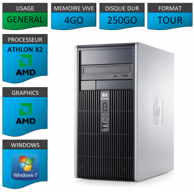 HP 4GO 250GOWINDOWS 7 PRO 32 bits
