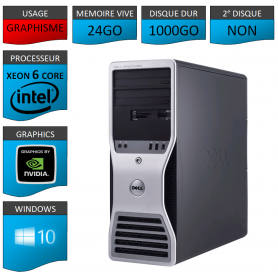 DELL PRECISION Xeon 6 Cores 24Go 1000 Go Windows 10 Pro 64 bits