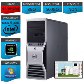 DELL PRECISION Xeon 4 Cores 8Go 500Go Windows 7 Pro 64