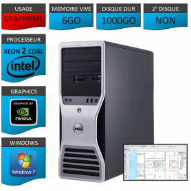 DELL PRECISION Xeon Dual Core 6Go 1000Go Windows 7 Pro 64