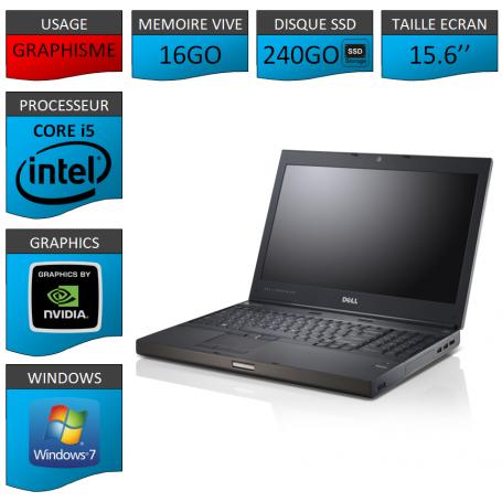 Dell Precision M4600 16Go 240SSD W7P