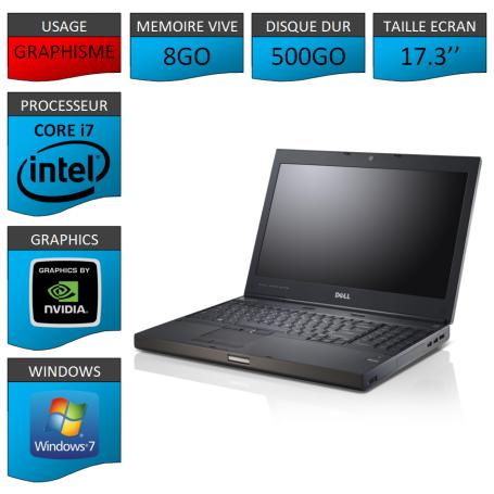 Dell Precision M6600 8Go 500Go W7P
