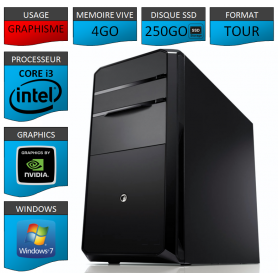 PC NEUF Core i3 4Go 250Go SSD Geforce 2Go