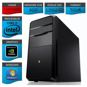 PC NEUF Core i5 4Go 120Go SSD Geforce 2Go