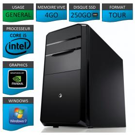PC NEUF Core i5 4Go 250Go SSD Geforce 1Go