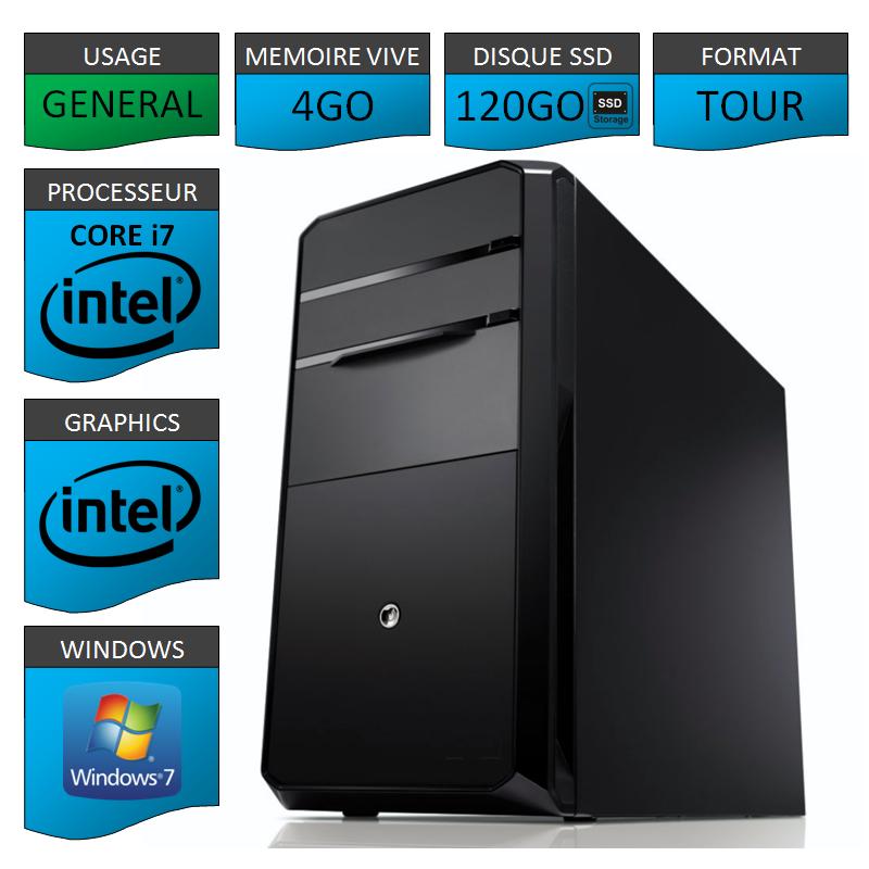 260ffbfd24513 PC NEUF Core i7 4Go 120Go SSD
