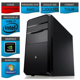 PC NEUF Core i7 4Go 120Go SSD Geforce 2Go