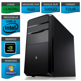 PC NEUF Core i5 4Go 500Go Geforce 1Go