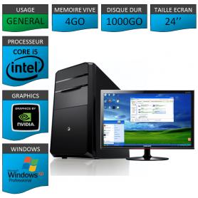 PC COREi5 Geforce 2Go XP PRO ECRAN 24 pouces