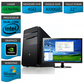 PC ideal Graphisme 3000GO XP PRO 22""
