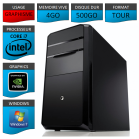 PC NEUF Core i7 4Go 500Go Geforce 4Go windows 7 32 bits