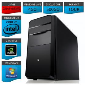 PC NEUF Core i7 4Go 500Go Geforce 4Go windows 7 32 bits