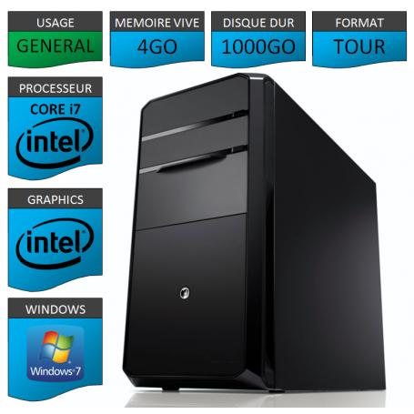 Ordinateur neuf Core i7 Windows 7 Pro 32 bits 1000Go
