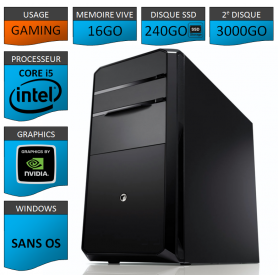 STATION GAMER GRAPHIQUE INTEL COREi5 2500k 16Go 240Go 3To 680GTX