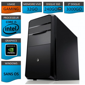 STATION GAMER INTEL COREi5 2500k 32Go 240Go 3To 560GTX