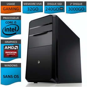 STATION GAMER INTEL COREi5 2500k 32Go 240Go 3To