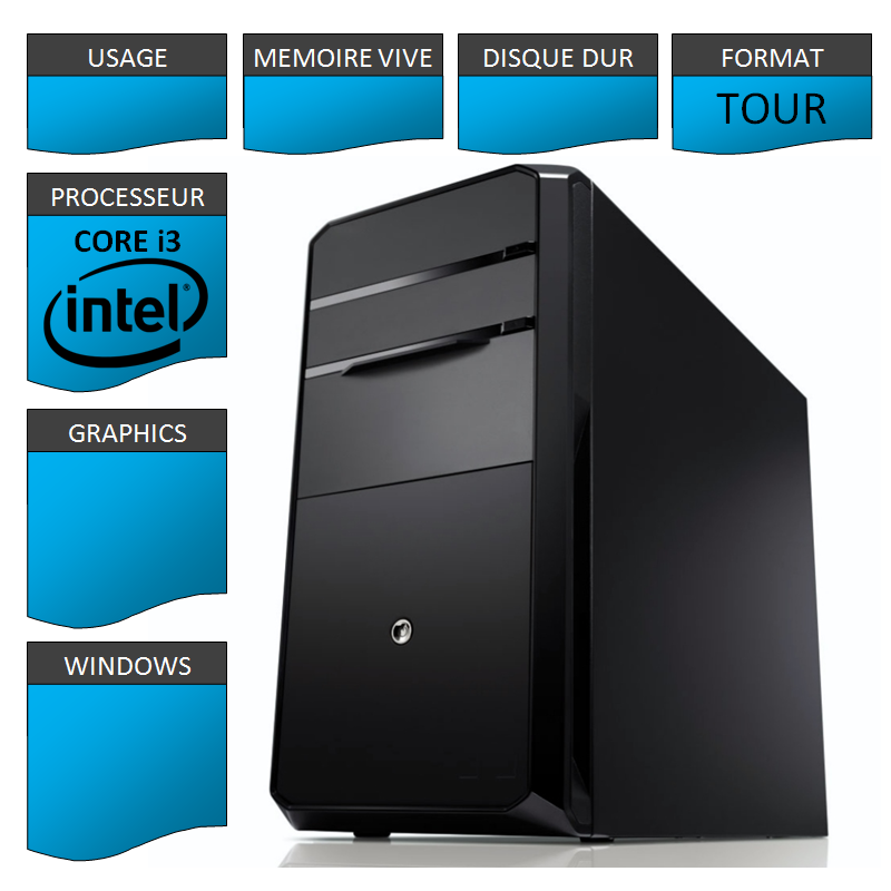 Kit Configuration Base Intel Core i3