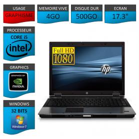 HP elitebook 8740W 4Go 500Go Windows 7 Pro 32 bits