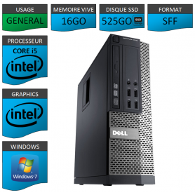 Dell 7010 Core i5 16Go 525SSD Windows 7 Pro