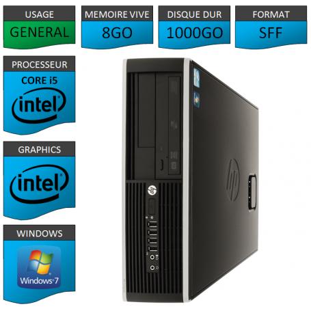 PC HP Pro Core i5 8Go 1000Go Windows 7 pro