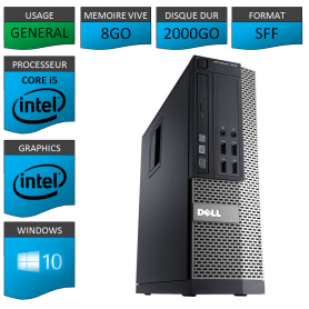 Dell Core i5 8Go 2000Go Windows 10 Pro