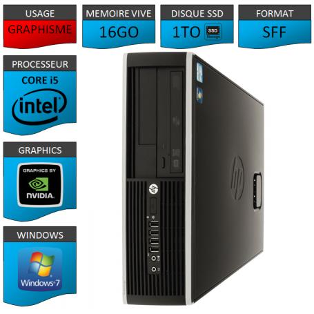 PC HP Core i5 16Go 1000Go SSD Windows 7 Pro Geforce