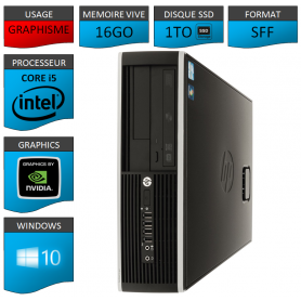 PC HP Core i5 16Go 1000Go SSD Windows 10 Pro Geforce